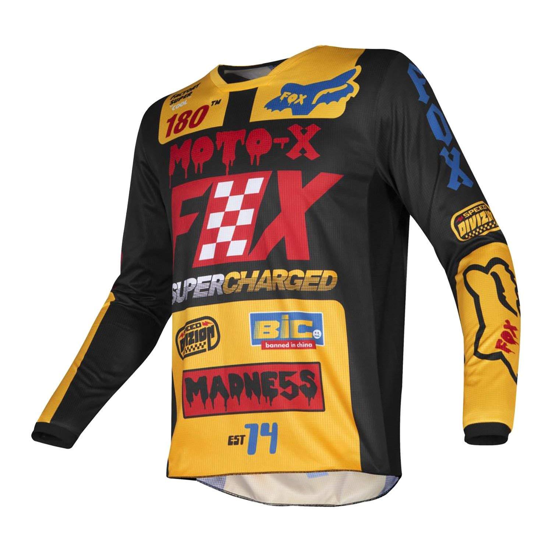 Fox Racing 2019 180 Jersey - Czar (X-LARGE) (BLACK/YELLOW)