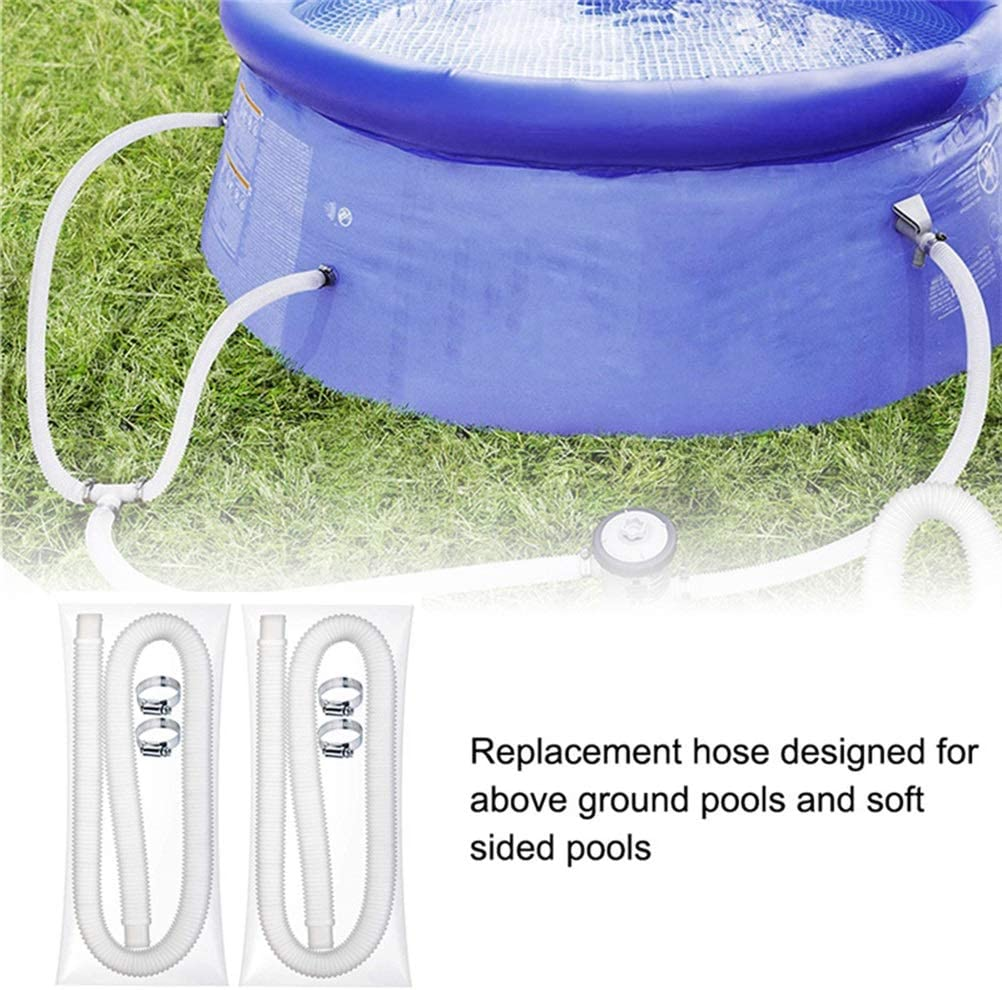 With 4 Metal Clamps Pool Pump Replacement Accessory Durable Soft Filter Pump Hose Yuciya Swimming Pool Hose Universal