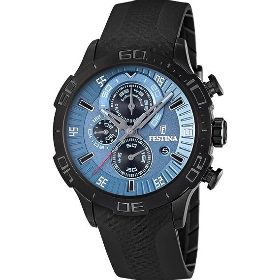 Festina F16567/1 - Reloj cronógrafo de caballero de cuarzo con correa negra: Festina: Amazon.es: Relojes