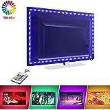 LED TV Backlight, Amazer-T USB LED Strip Light, RGB Multi-Colour LED Light Strip Kit, 60LED with Wireless Remote…