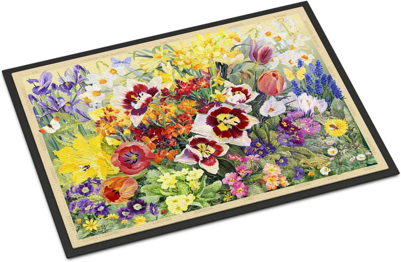 Caroline s Treasures SASE0954JMAT Spring Floral by Anne Searle Indoor or Outdoor Mat 24×36, 24H X 36W, Multicolor