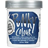 Punky Midnight Blue Semi Permanent Conditioning Hair Color, Non-Damaging Hair Dye, Vegan, PPD and Paraben Free, Transforms to