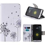 LG G5 Case, LG G5 Wallet Case, Harryshell(TM) Dandelion Wallet Folio Leather Flip Case Cover with Card Holder for LG G5 (2016)