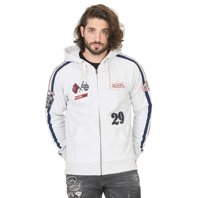 3a600454373 Von Dutch Gris Clair L Pull Sweatshirt - V - Größe  Amazon.fr  Vêtements et  accessoires