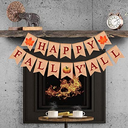 """/""""FALL/"""" Welcome Fall Banner Party Bunting Garland Photo Props Hanging Decor"""