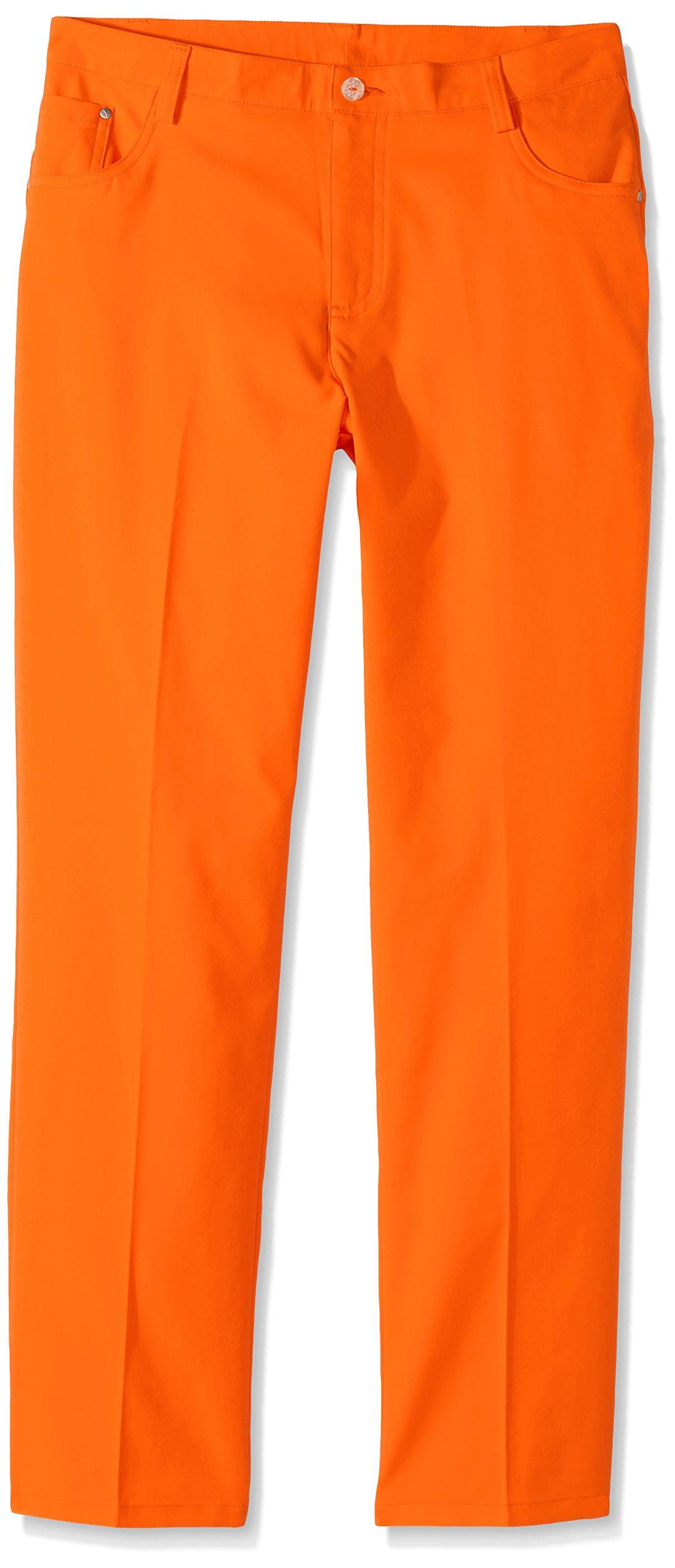 PUMA Boy's Golf Boys 5 Pocket Pants Jr, Orange, X-Large by PUMA