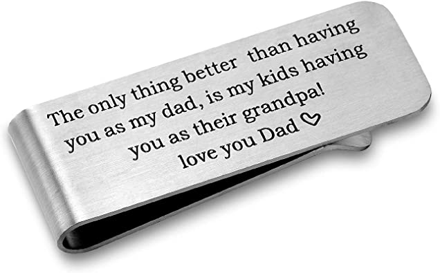 Gift for Grandpa Personalized Gift Gift for Dad Christmas Gift for Him Engraved Money Clip