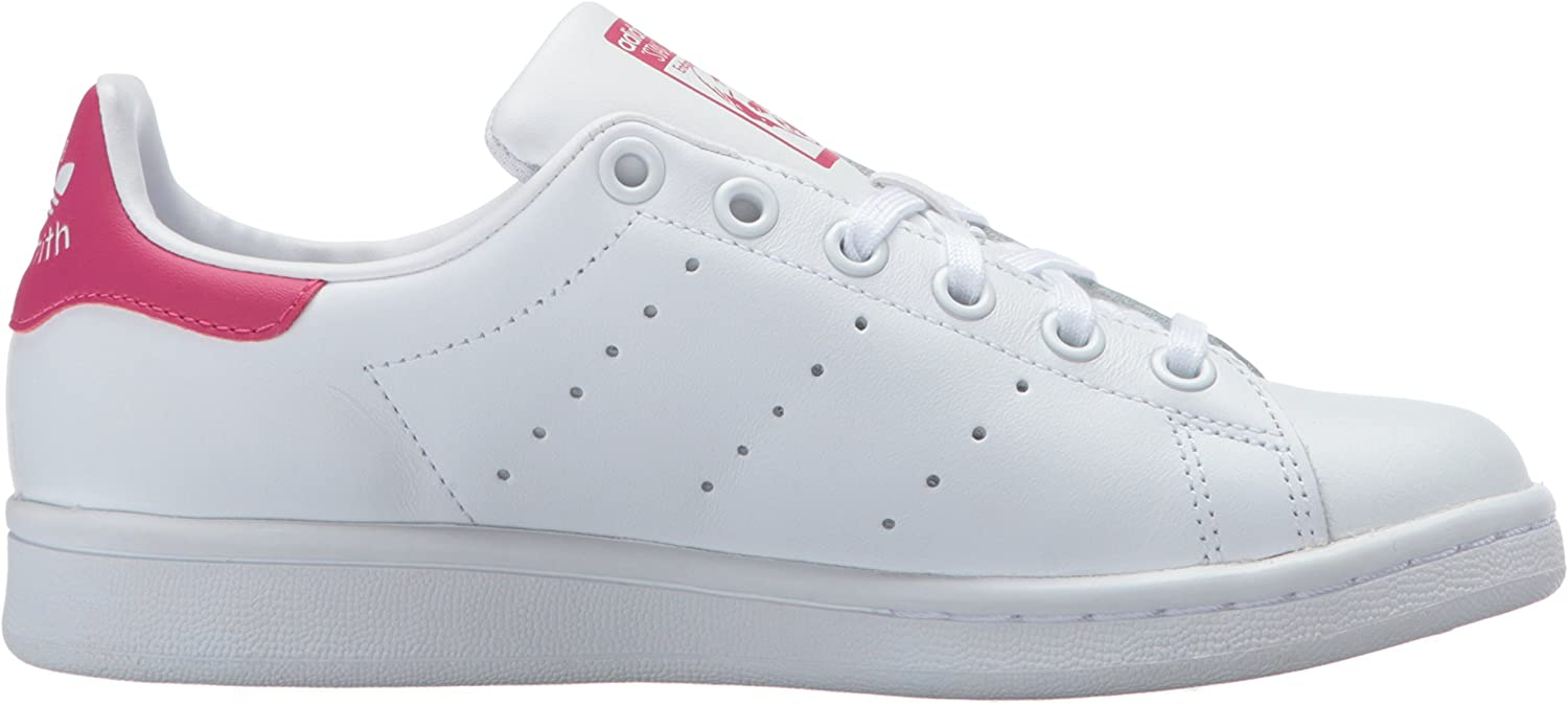 adidas Originals Kids Stan Smith Leather White//Red Comfort Shoe Size 6 White