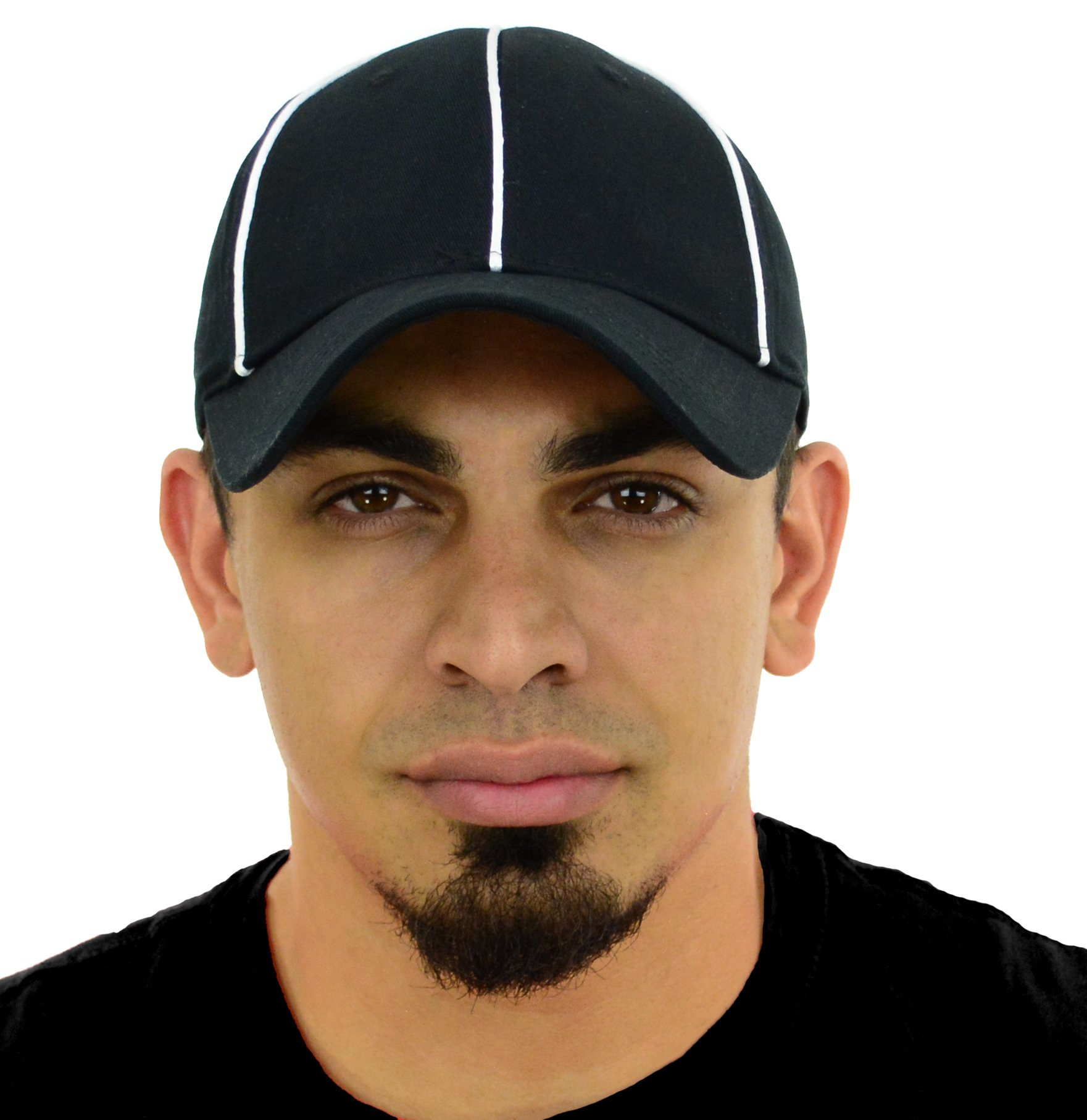 Mato & Hash Official Referee Hats | Fitted and Adjustable Hats for Umpires,Referees,and Officials - 12PK Adjustable Black/White CA2099 S/M