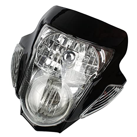 Amazon Com Andux Land Motorcycle Headlight Turn Signal Lights With