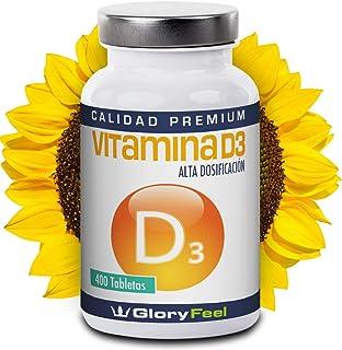 Vitamina D 8100 IU 400 comprimidos - Vitamina D3 vegana - 8.100 IU / 200 µg