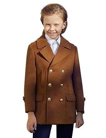 83f36cf97 Amazon.com  ELPA ELPA Boys Wool Coat Autumn Winter Formal Dress ...