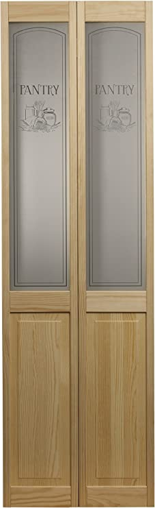 Ltl Home Products 864720 Pantry Half Glass Bifold Interior Wood Door 24 Inches X 80 Inches Unfinished Pine Amazon Com