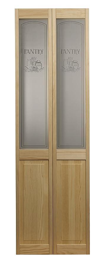 Pinecroft 864720 Pantry Half Glass Bifold Interior Wood Door