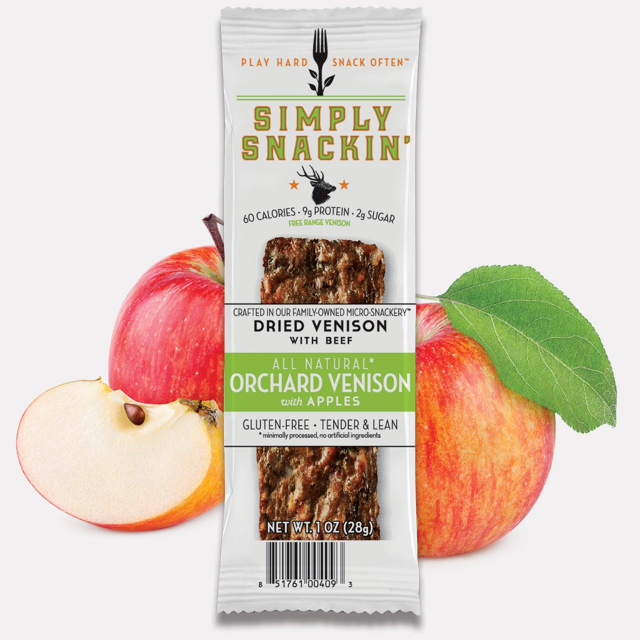 Simply Snackin ORCHARD Venison w/ Apples 20 snacks
