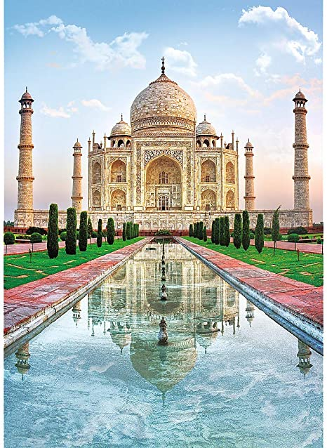 Gift for Travel Lover Best Christmas Gifts Jigsaw Puzzle Games Paris Unique Round Puzzles Wall Decor Taj Mahal Attractions Wooden Jigsaw Puzzles For Adults