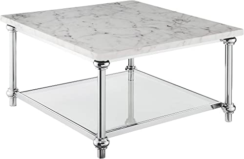 Convenience Concepts Roman II Square Coffee Table