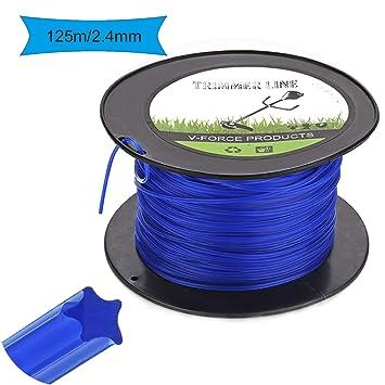 Trimmer Line Hilo de Corte para Desbrozadora 2.4mm/125M para ...