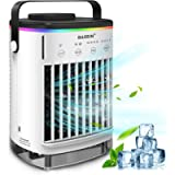Portable Air Conditioner Evaporative Air Conditioner Fan with Double Water Tank 4 Speeds 8H Timer 7 Colors, Camping AC…