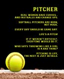 "Unframed Softball Pitcher 8"" x 10"" Sport Poster Print"