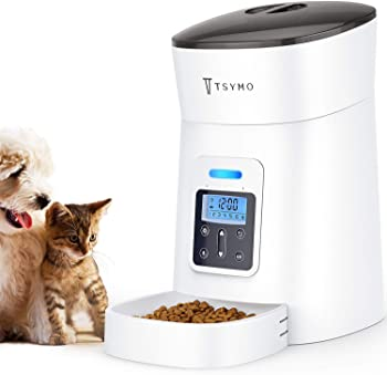 2.TSYMO Automatic Auto Dog Food Dispenser with Timer Programmable