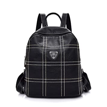 9a24a50757 Image Unavailable. Image not available for. Color  New Bagpack Fashion Women  Backpackyouth Leather Backpacks for Teenage Girls Female School Shoulder ...