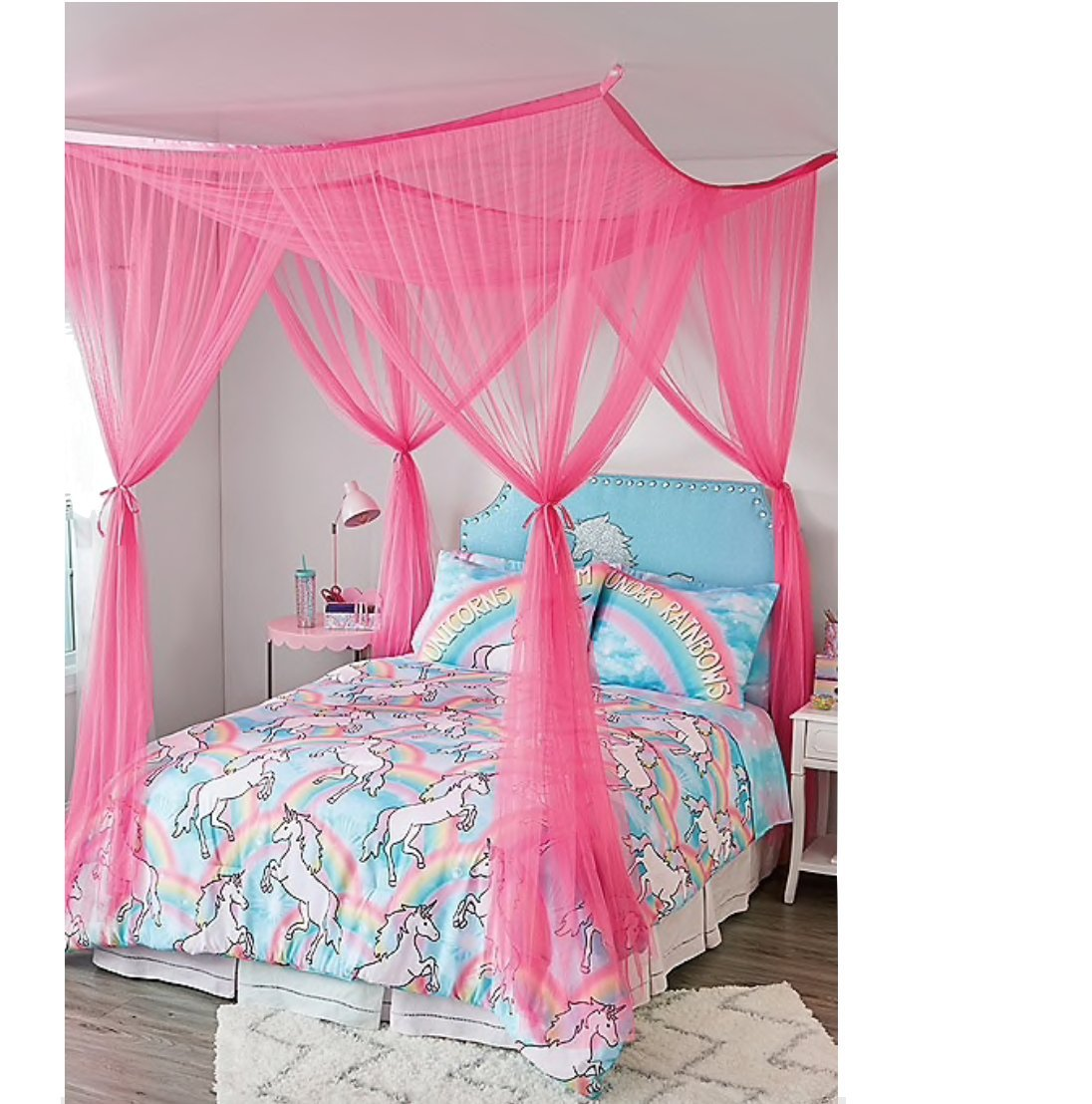 Justice Rectangle Bed Canopy Pink