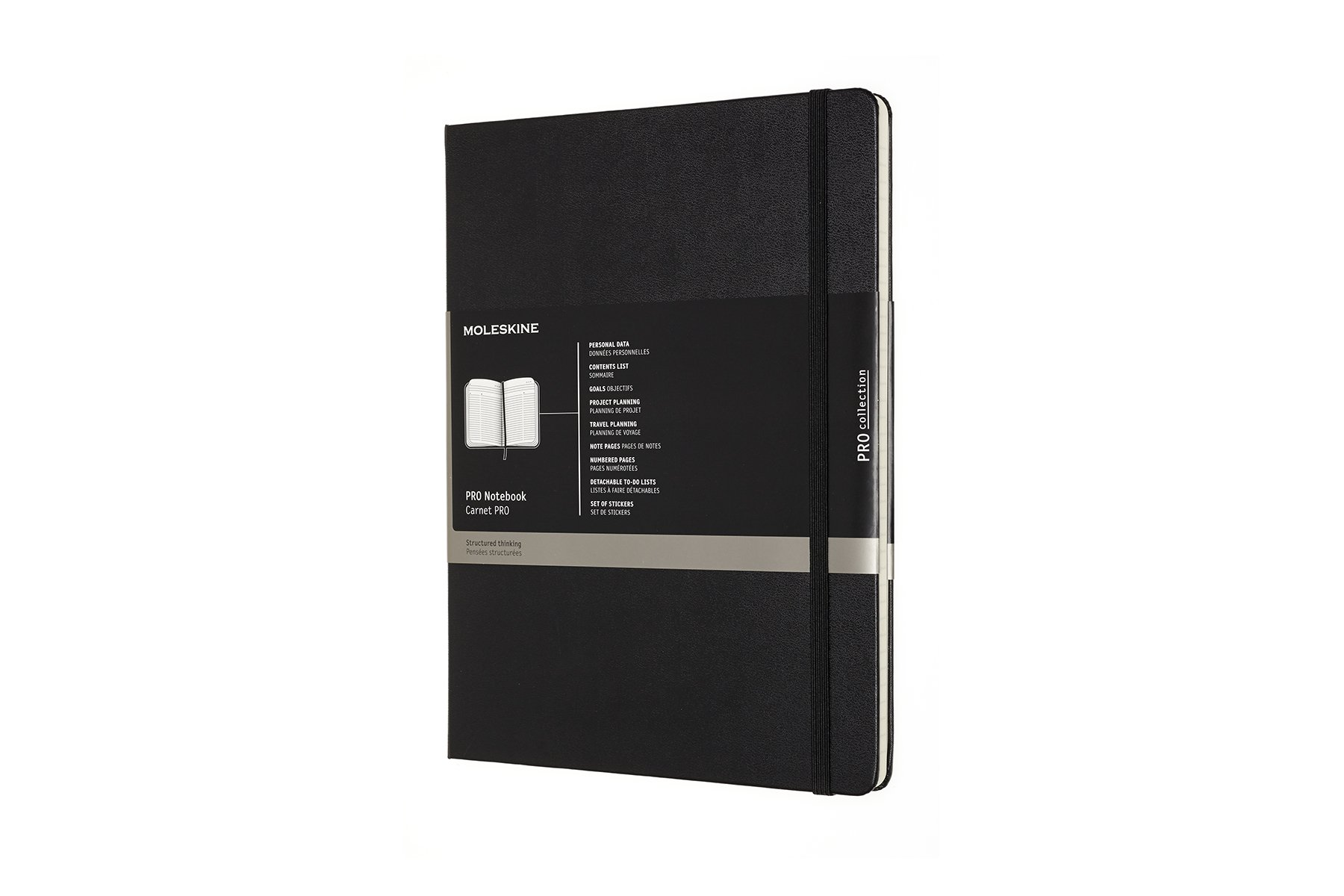 Moleskine Pro Hard Cover Notebook, Professional, XL Black