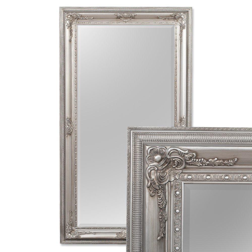 LEBENSwohnART LEBENSwohnART LEBENSwohnART Spiegel EVE 180x100cm Antik-Silber Pompös Barock Wandspiegel Holzrahmen Facette f78c22