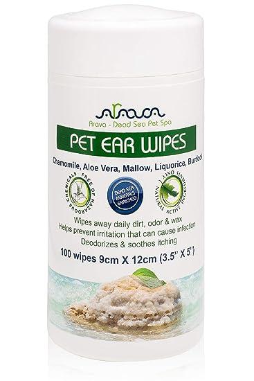 Amazon.com: Toallitas para orejas de mascotas Arava, para ...