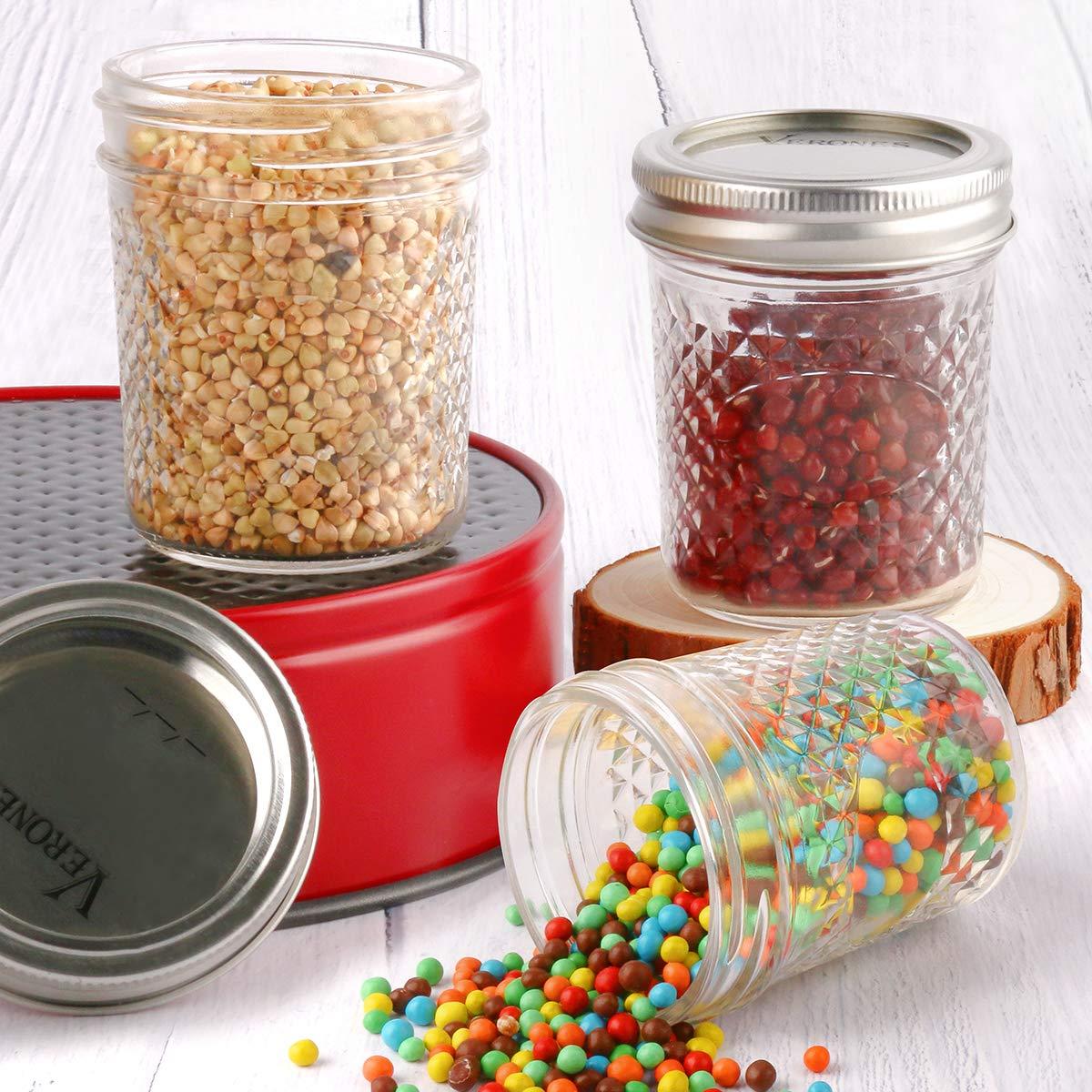 Baby Foods VERONES Canning Jars Jelly Jars With Regular Lids and Bands Ideal for Jam Wedding Favors Honey Mason Jars 12 OZ 15 PACK Shower Favors