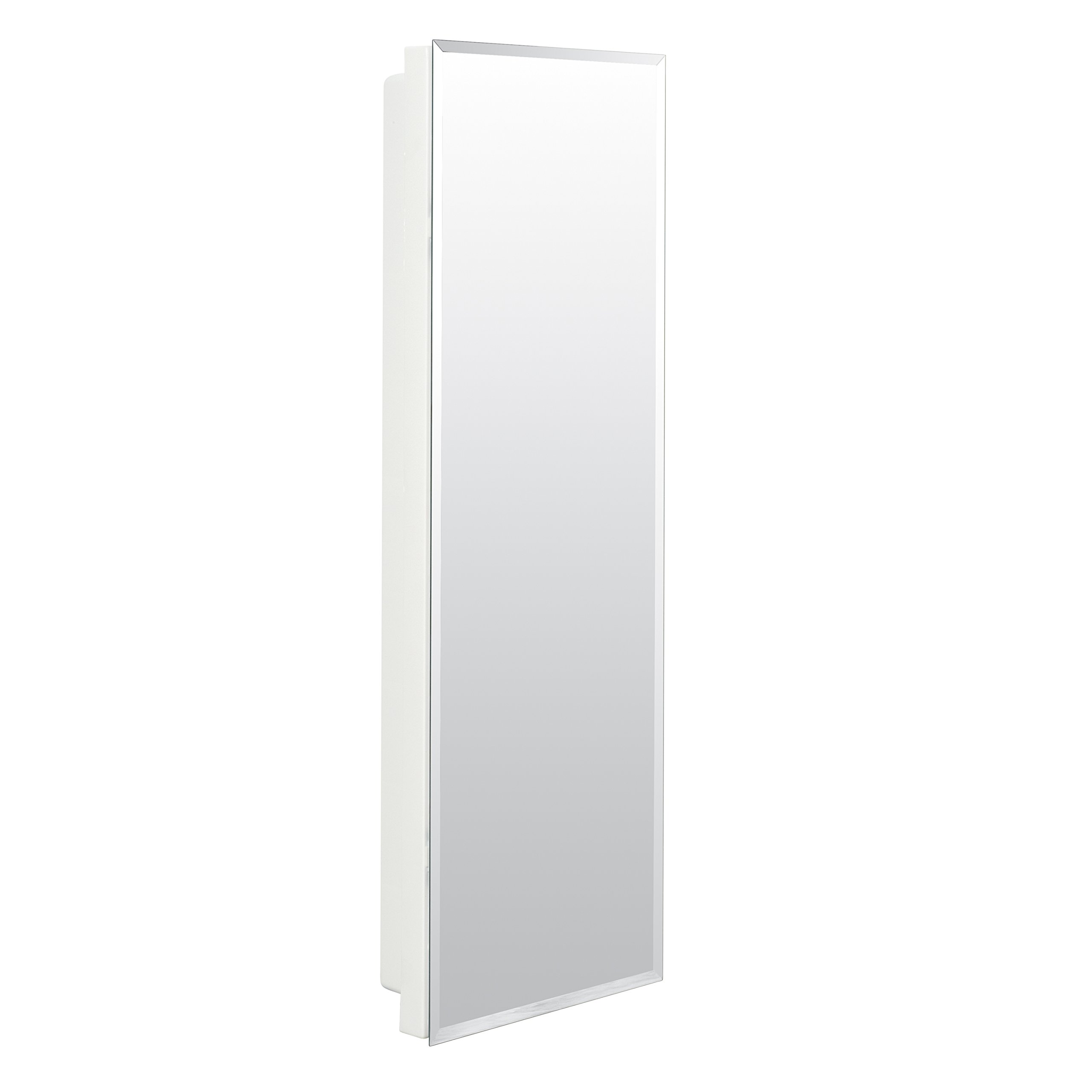 American Pride 9836WB1AR - Recessed Beveled Polished Edge Mirror Medicine Cabinet 12'' x 36''