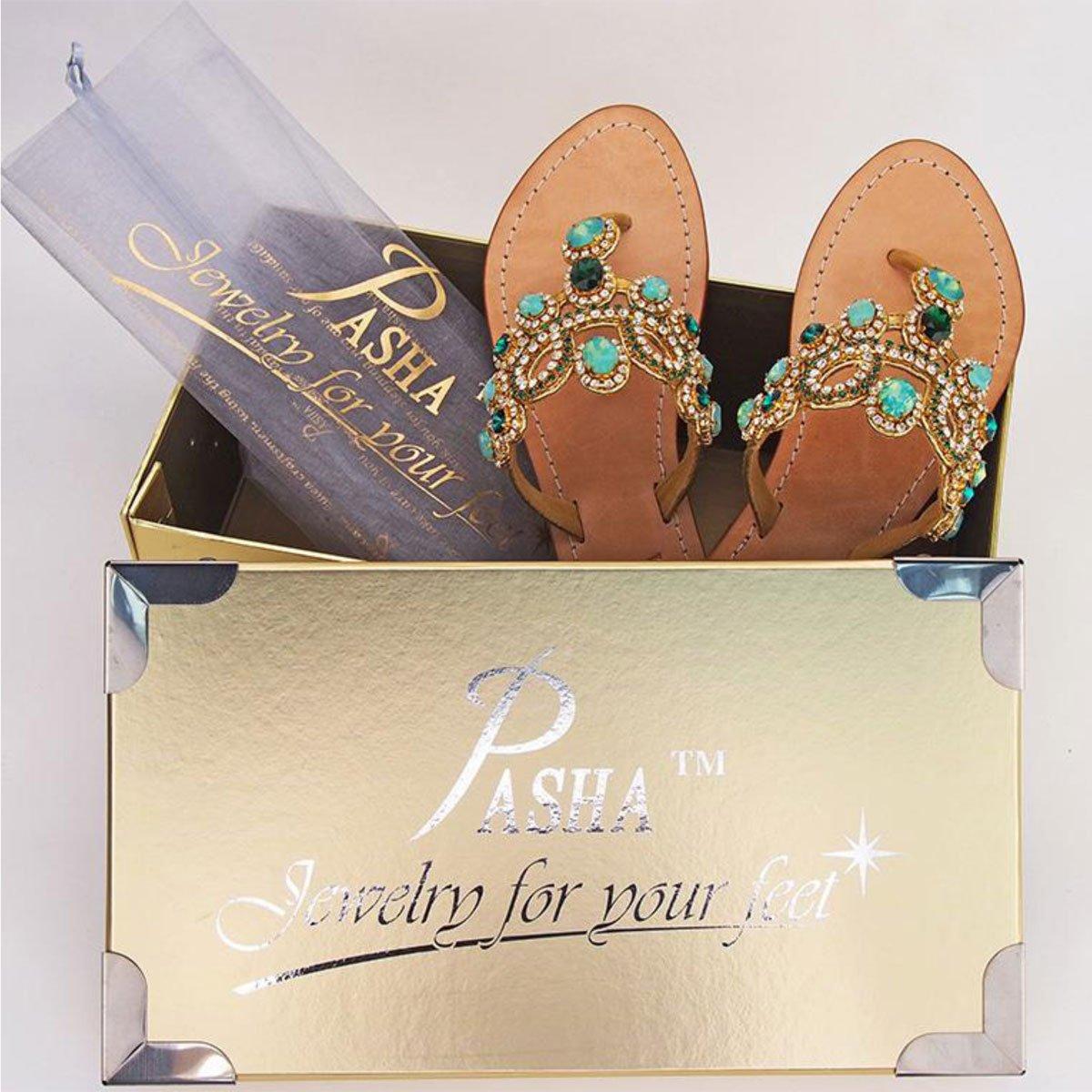 12aaa1d70f3f Amazon.com  Pasha Bejeweled  Tahiti  Sandals  Clothing