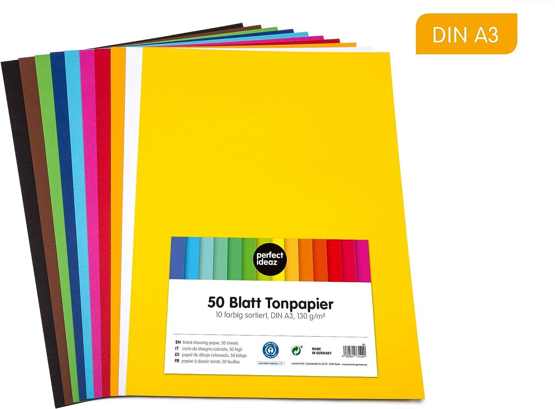 A3/297/x 420/mm Casa di carta e carta di carta colorata Confezione da 50/fogli colore: giallo 220/g//mq