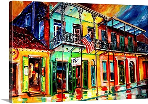 Down on Bourbon Street Canvas Wall Art Print