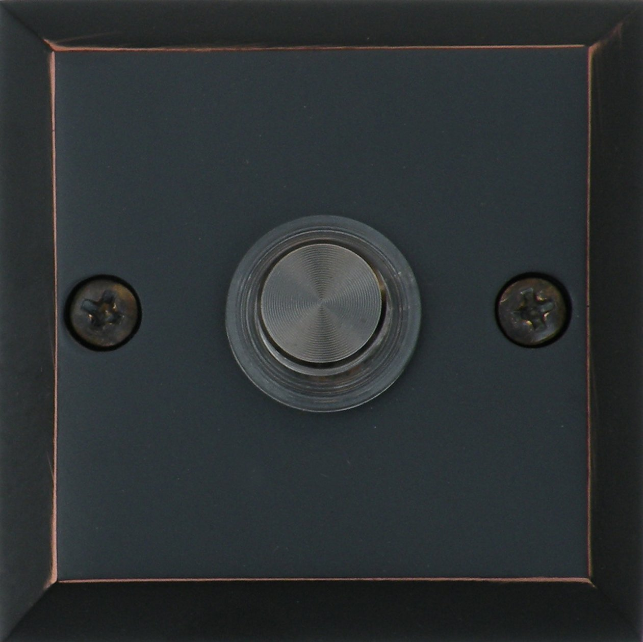 Knoxx Hardware BP3LBXORB Oil Rubbed Bronze 2.5'' Lighted Metro Square Door Bell Button, 1-Pack