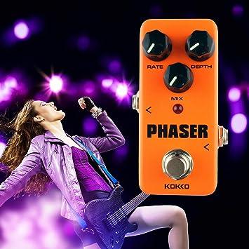 KOKKO FPH2 Phaser Mini Pedal de efecto de guitarra eléctrica Procesador de sonido de efecto de