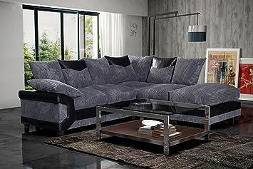 watch cb71f 45300 Grande Nuovo Large New Dino Corner Sofa, 3 + 2 Seater Set mano destra grey