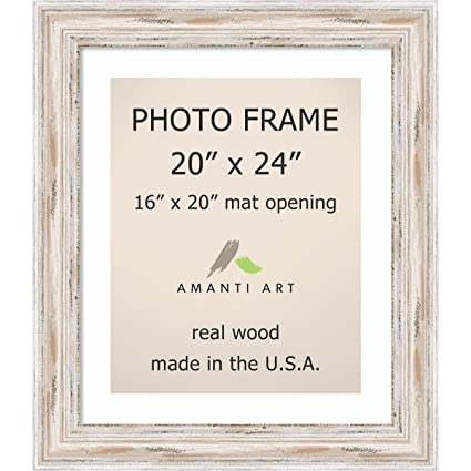 Amazon.com: Amanti Art Picture Frame, 20x24 Matted to 16x20 ...