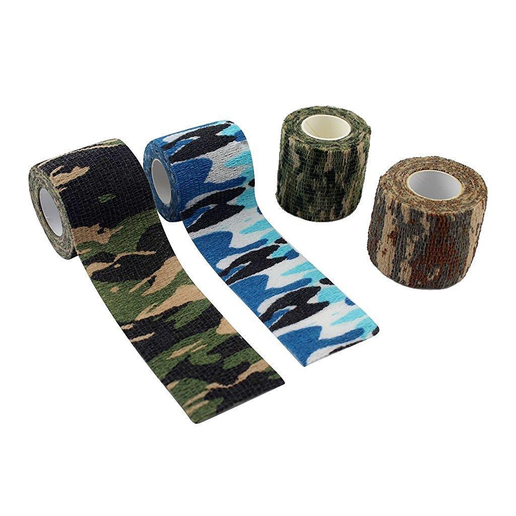 LOOKOUT rotolo di nastro adesivo mimetico rotoli elasticit/à non tessuto autoadesivo caccia esterna /& # xFF08; Snow camouflage /& # XFF09;