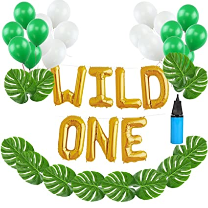 Amazon 16 INCH Wild ONE Kids First Birthday Balloons With 12