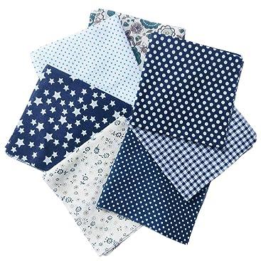 Lorsoul 7PCS Patchwork Couture Mat/ériaux Quilting Scrapbooking Coton Tissu 25cm Impression Mixte Tissus /à Motifs Floraux Set 25