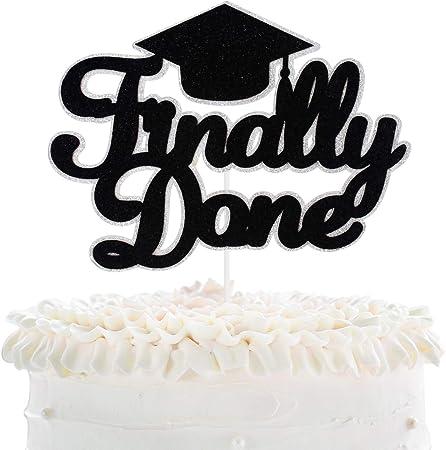 """6-Inch Glittered /""""Congrats Grad/"""" Cake Topper"""