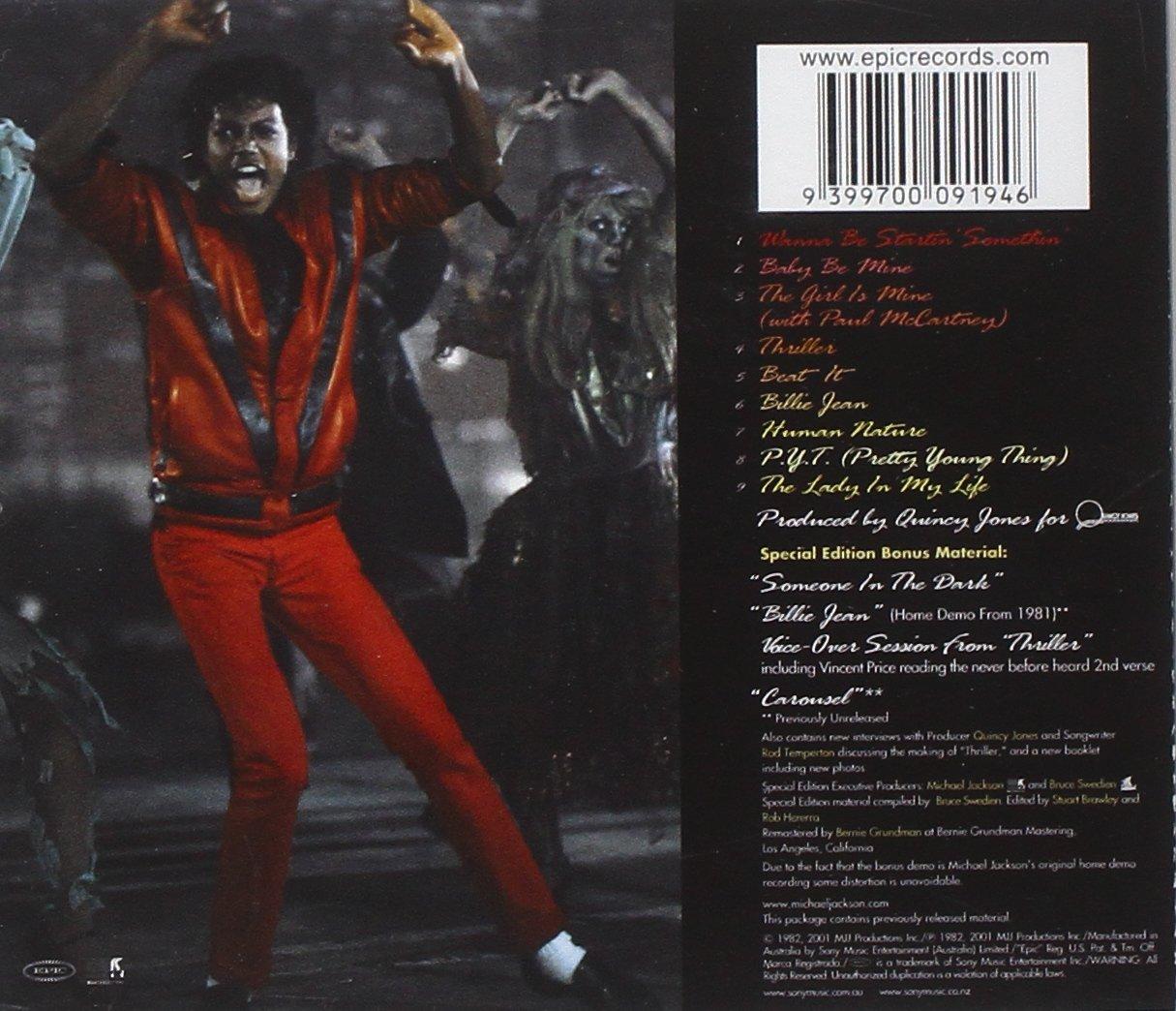 - JACKSON, MICHAEL - THRILLER + BONUS : REMASTERED - Amazon.com Music