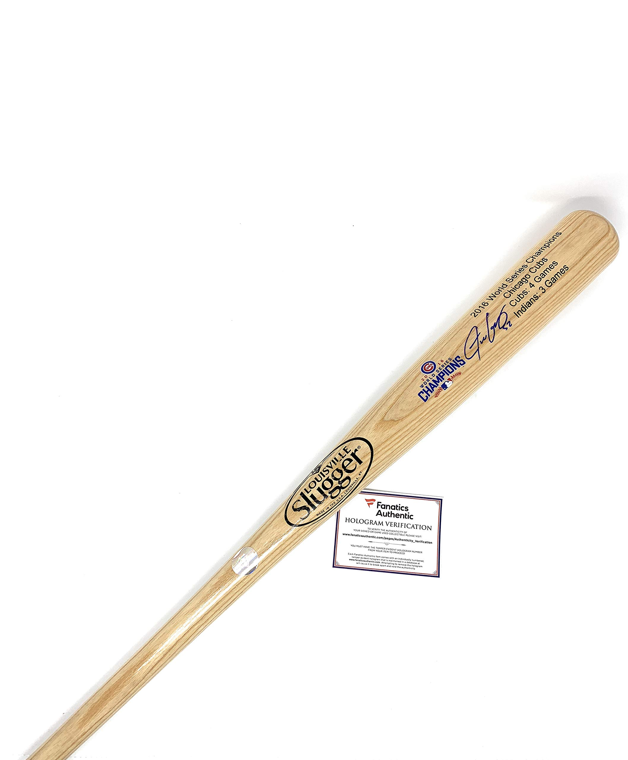 Justin Grimm Chicago Cubs Signed Autograph Baseball Bat Limited Edition World Series Blonde Fanatics Authentic Certified