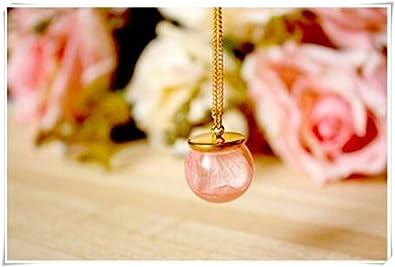 Resine Fleur Cool Collier Collier Rose Fleur Pressee Fleurs