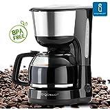 Aigostar Chocolate 30HIK - Cafetière de couleur noire. Capacité: 1,25 L. Puissance: 1000 W. Sans BPA.