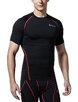 (テスラ)TESLA 半袖 ラウンドネック スポーツシャツ [UVカット・吸汗速乾] コンプレッションウェア パワーストレッチ アンダーウェア・R13/R14