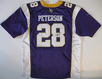 buy popular a17ee 8b793 Autographed Adrian Peterson Jersey - coa proof ...