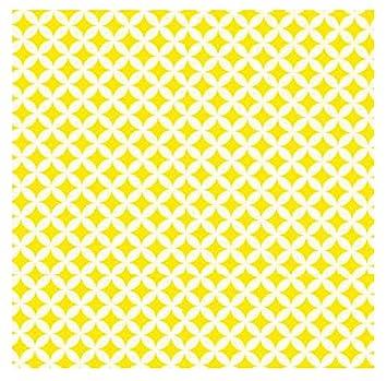 i.stHOME Klebefolie Rauten gelb weiß Elliot Möbelfolie selbstklebend  Dekorfolie Möbel 45x200 cm Selbstklebende Folie Selbstklebefolie Retro  Vintage ...